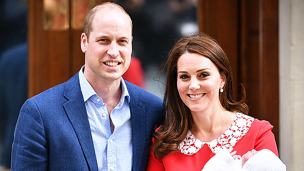 Prince William and Kate Middleton with newborn son