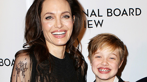 Shiloh Jolie-Pitt with mom Angelina Jolie
