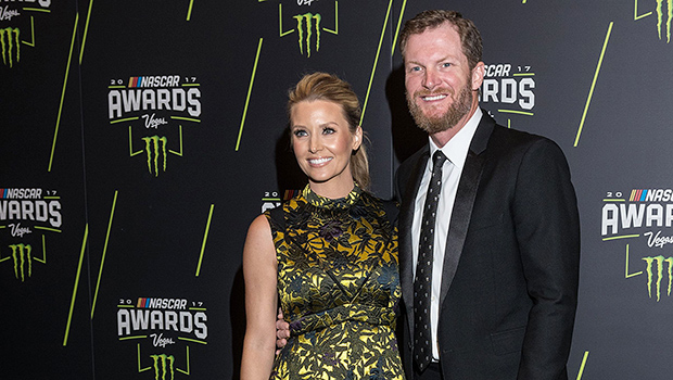 Dale Earnhardt Jr. with his wife Amy Reimann