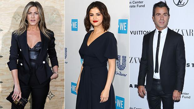 Jennifer Aniston, Selena Gomez, Justin Theroux