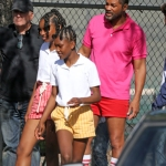 *EXCLUSIVE* Los Angeles, CA  - **WEB MUST CALL FOR PRICING** - Will Smith films scenes as Richard Williams for 'King Richard' with co-star Jon Bernthal. Will can be seen for the first time filming scenes with young Serena and Venus played by the actresses Saniyya Sidney and Demi Singleton. Shot on 02/27/20.  Pictured: Will Smith, Jon Bernthal, Saniyya Sidney and Demi Singleton  BACKGRID USA 28 FEBRUARY 2020   BYLINE MUST READ: BACKGRID  USA: +1 310 798 9111 / usasales@backgrid.com  UK: +44 208 344 2007 / uksales@backgrid.com  *UK Clients - Pictures Containing Children Please Pixelate Face Prior To Publication*