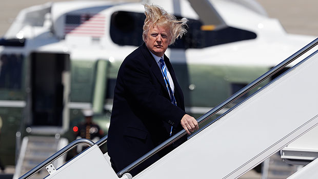 Donald Trump's Most Ridiculous Presidential Photos: Hair Flying In The Breeze & More