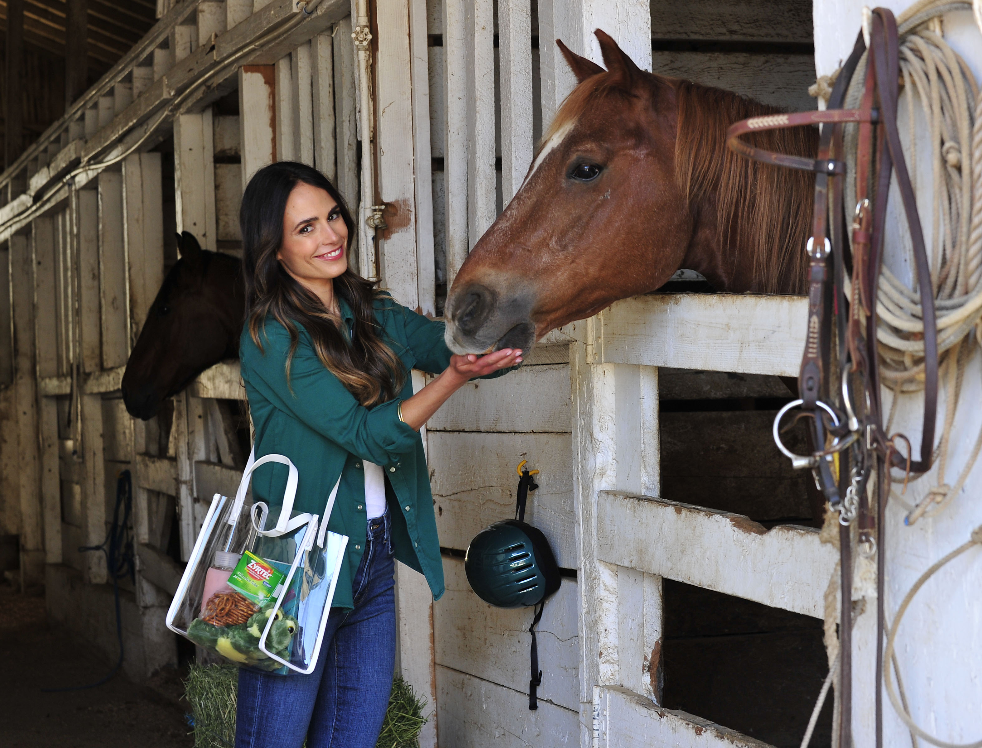 - Los Angeles, CA - 06/05/2018 - Allergies didn`t stop Jordana Brewster from enjoying a day at the horse stable with her family thanks to consistent relief from Zyrtec.-PICTURED: Jordana Brewster-PHOTO by: Michael Simon/startraksphoto.com-MS459368Editorial - Rights Managed Image - Please contact www.startraksphoto.com for licensing fee Startraks PhotoStartraks PhotoNew York, NY For licensing please call 212-414-9464 or email sales@startraksphoto.comImage may not be published in any way that is or might be deemed defamatory, libelous, pornographic, or obscene. Please consult our sales department for any clarification or question you may haveStartraks Photo reserves the right to pursue unauthorized users of this image. If you violate our intellectual property you may be liable for actual damages, loss of income, and profits you derive from the use of this image, and where appropriate, the cost of collection and/or statutory damages.