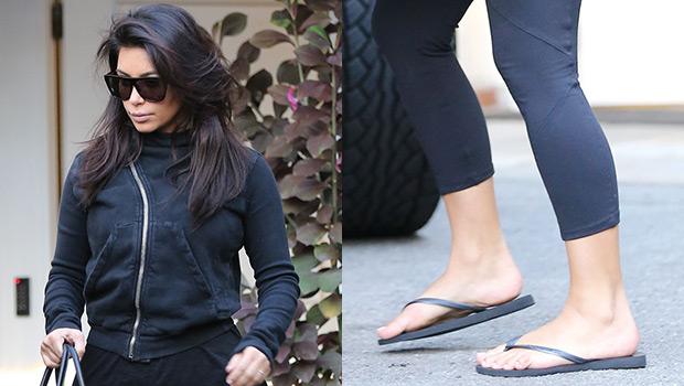 Kim Kardashian in Flip Flops
