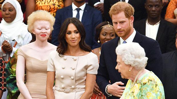 Meghan Markle, Queen Elizabeth & Prince Harry