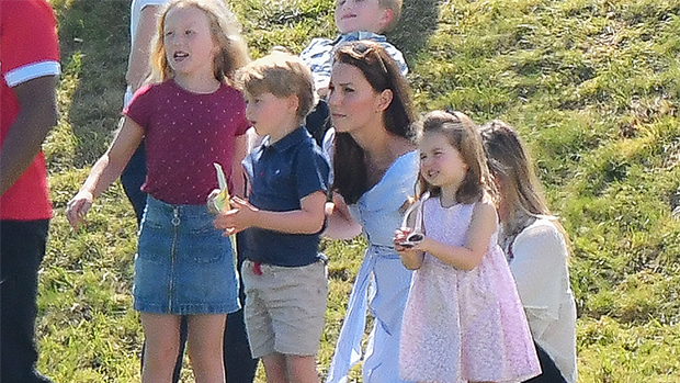 Prince George with cousin Savannah Phillips