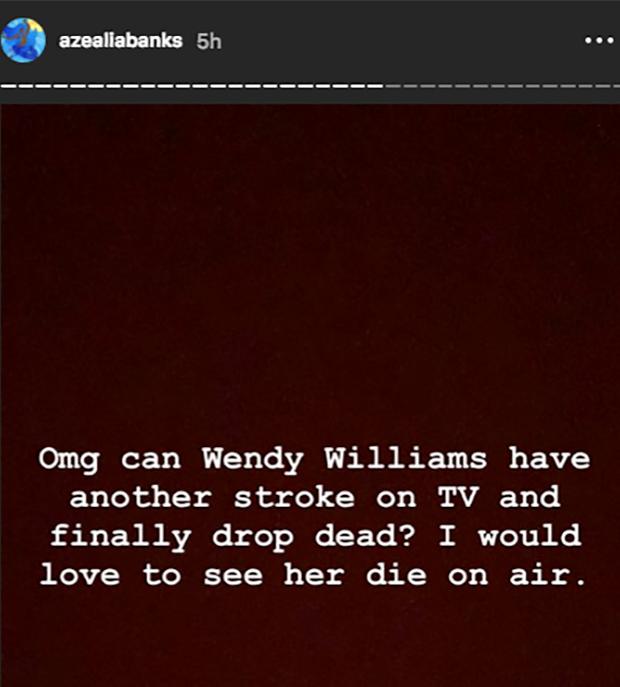 Azealia Banks disses Wendy Williams