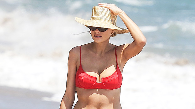 Charlotte McKinney Red Bikini