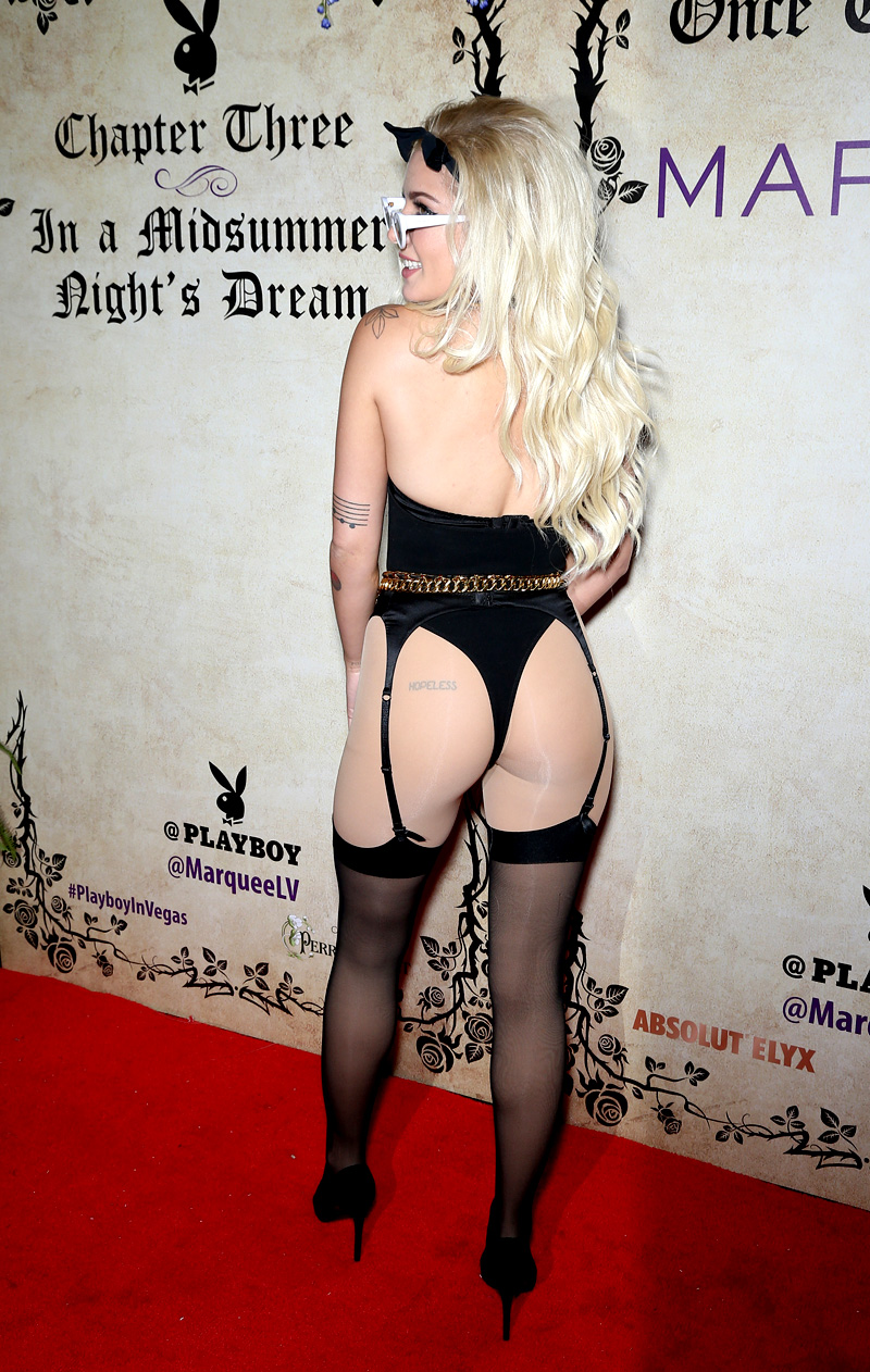 Halsey attends Playboy?s Midsummer Night?s Dream. Held @ Marquee Nightclub at The Cosmopolitan Hotel Las Vegas, Las Vegas, NV. July 28, 2018. ? Tracey Jay/Photo Image Press/Splash NewsPictured: Halsey Ref: SPL5012936 280718 NON-EXCLUSIVE Picture by: Photo Image Press/Splash News / SplashNews.com Splash News and Pictures Los Angeles: 310-821-2666 New York: 212-619-2666 London: 0207 644 7656 Milan: +39 02 4399 8577 Sydney: +61 02 9240 7700 photodesk@splashnews.com World Rights