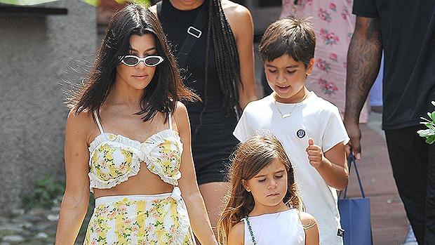 Kourtney Kardashian and her children.