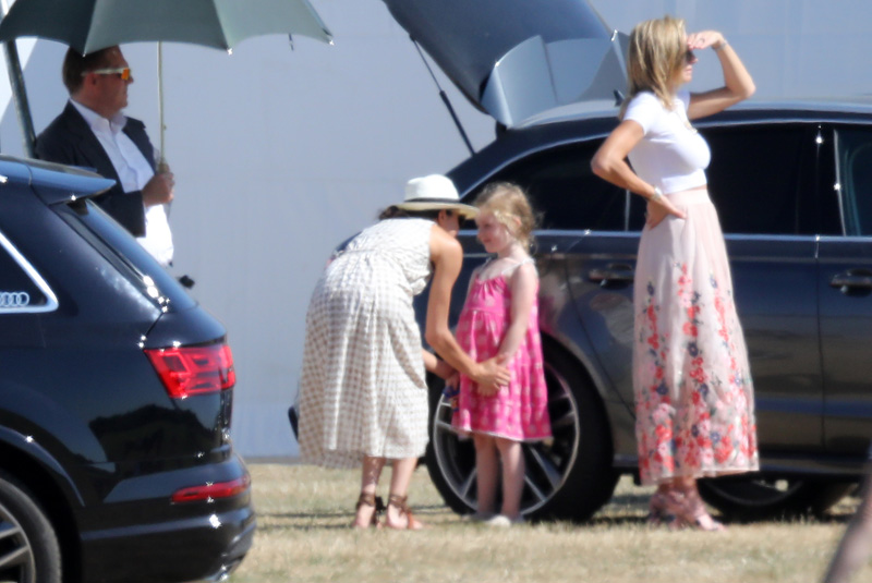 British Royal Family members The Duke And Duchess of Sussex, Prince Harry, Meghan Markle were joined by the Duke of Cambridge Prince William at the Audi Polo Cup in Berkshire, UK Pictured: Ref: SPL5007322 300618 NON-EXCLUSIVE Picture by: SplashNews.com Splash News and Pictures Los Angeles: 310-821-2666 New York: 212-619-2666 London: 0207 644 7656 Milan: +39 02 4399 8577 photodesk@splashnews.com World Rights