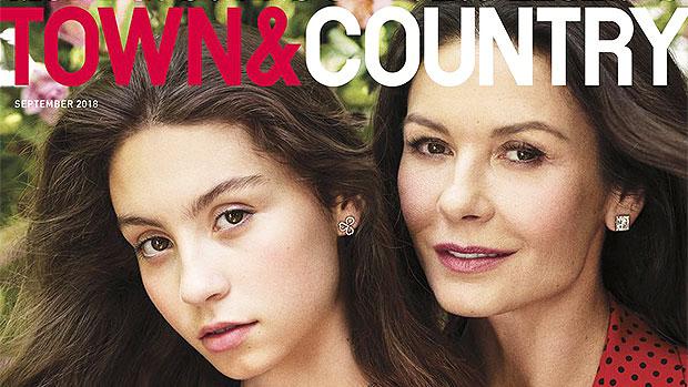 Catherine Zeta-Jones & Carys Zeta-Douglas Town & Country 2018