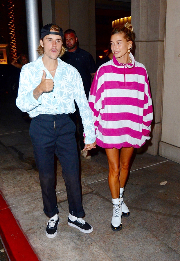 Beverly Hills, CA - Superstar couple Justin Bieber and Hailey Baldwin were spotted holding hands as they headed out for a romantic dinner date after their weekly church service in Beverly Hills.Pictured: Justin Bieber, Hailey BaldwinBACKGRID USA 29 AUGUST 2018 BYLINE MUST READ: BKNY / BACKGRIDUSA: +1 310 798 9111 / usasales@backgrid.comUK: +44 208 344 2007 / uksales@backgrid.com*UK Clients - Pictures Containing ChildrenPlease Pixelate Face Prior To Publication*