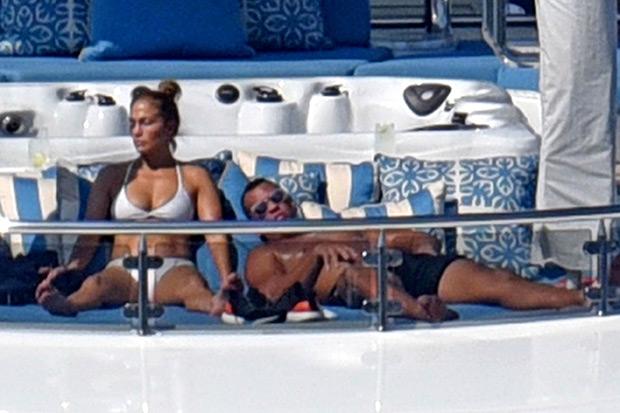 Jennifer Lopez and A-Rod on a yacht