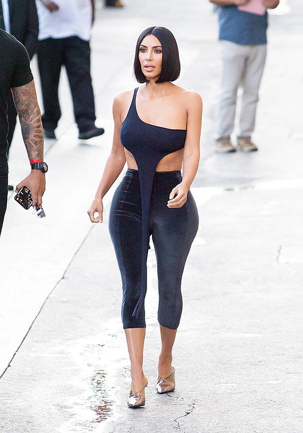 Kim Kardashian At Jimmy Kimmel Live in L.A. On July 30