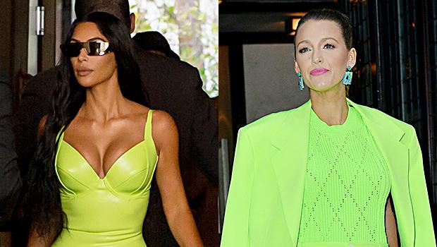 kim kardashian neon green