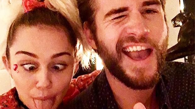 Miley cyrus liam hemsworth selfie dogs