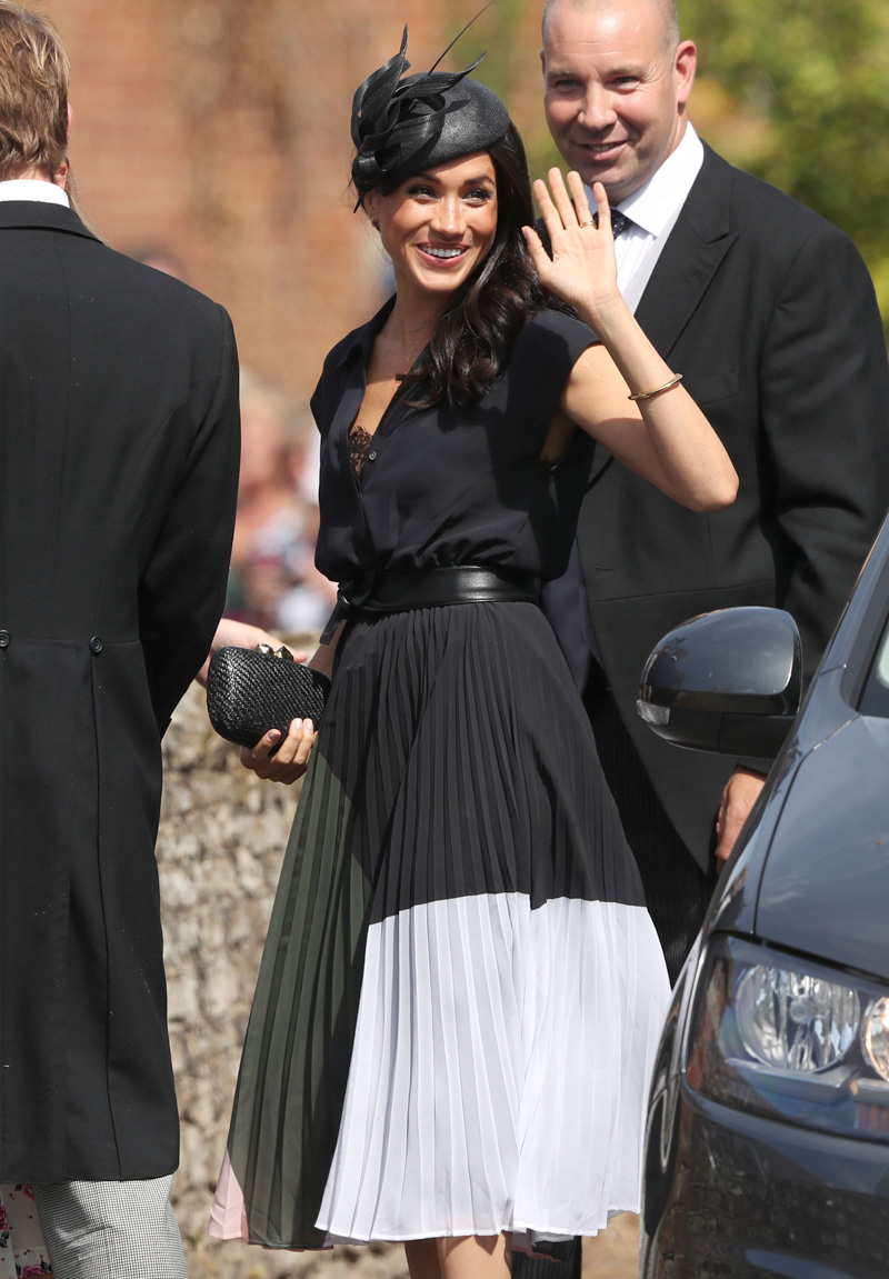 Meghan Duchess of SussexThe wedding of Daisy Jenks and Charlie van Straubenzee, St Mary the Virgin Church, Frensham, Surrey, UK - 04 Aug 2018