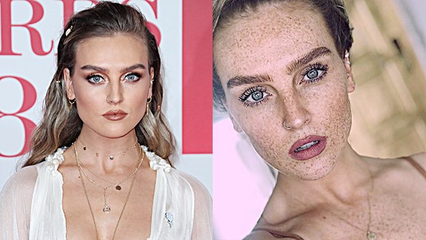 Perrie Edwards With & Without Freckles