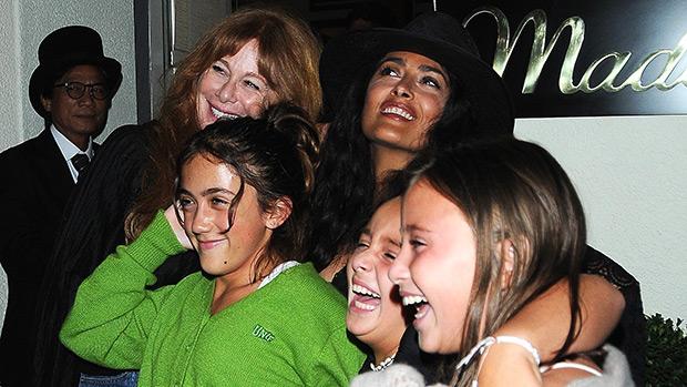 salma hayek daughter girls night out