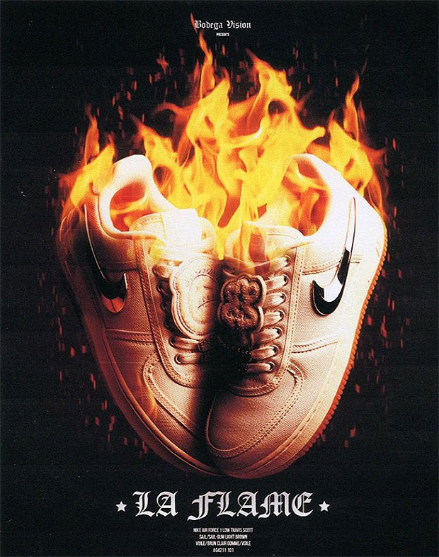 Travis Scott & Nike's Air Force 1 Sail shoe