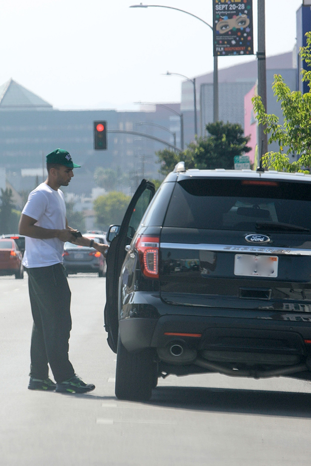 Younes Bendjima With Ford SUV
