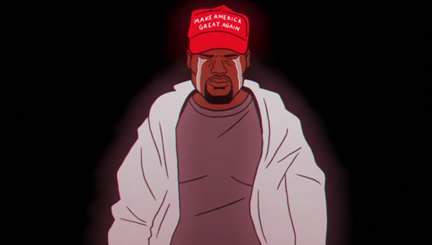 Kanye West crying