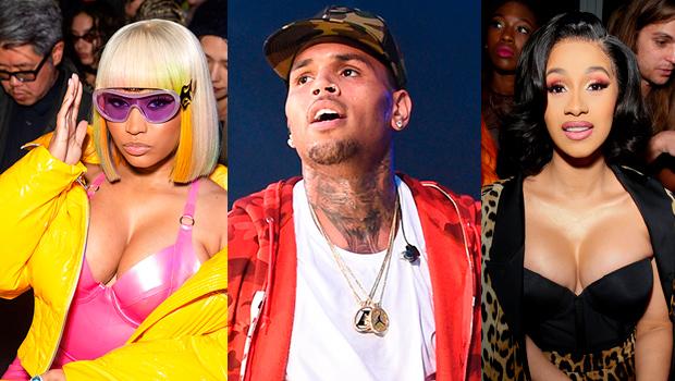 Chris Brown Reacts Nicki Minaj Cardi Beef