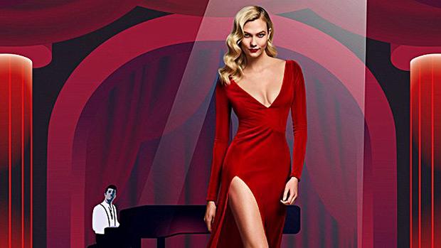 karlie kloss red dress