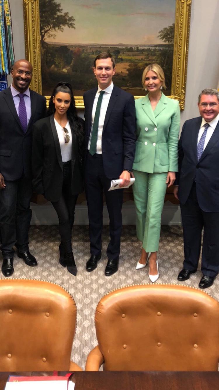Kim Kardashian meets Ivanka Trump