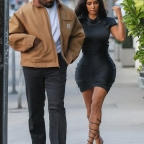 *EXCLUSIVE* Kim Kardashian and Kanye West go out to dinner at Giorgio Baldi