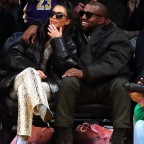 Kim Kardashian West And Kanye West Attend A Basketball Game Between The Los Angeles Lakers Vs The Cleveland Cavaliers At The Staples Center In Los Angeles, CA