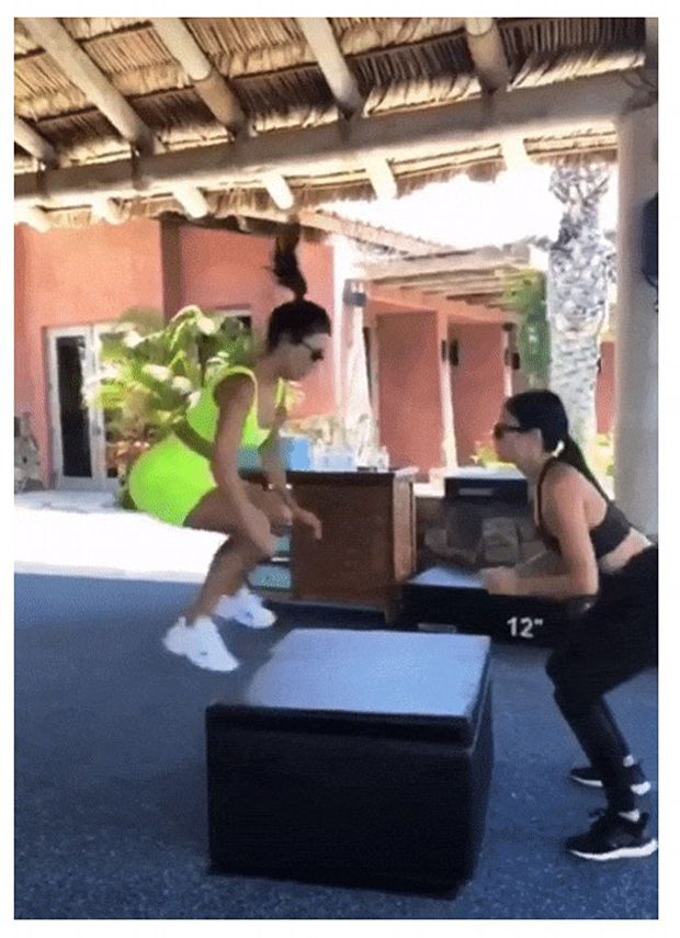 kourtney kardashian workout