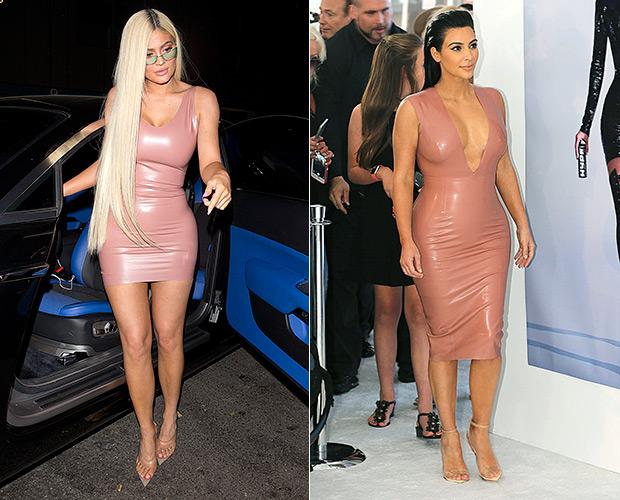 Kylie Jenner Kim Kardashian Pink Latex
