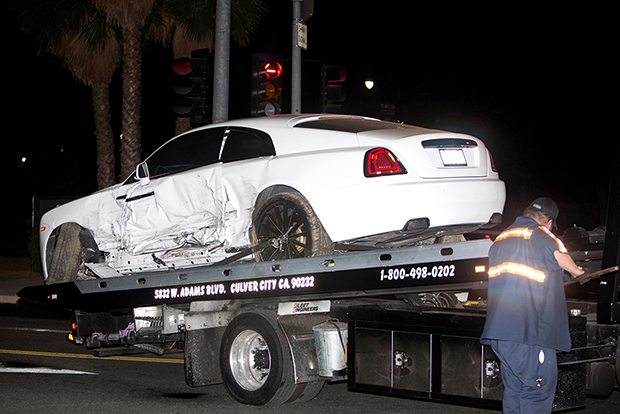 post malone car crash
