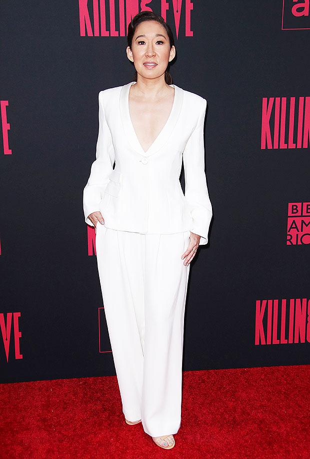Sandra Oh white suit