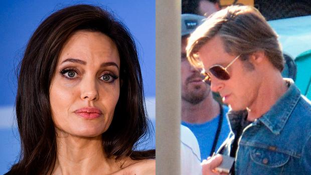 Angelina Jolie emotional Brad Pitt Margaret Qualley hug