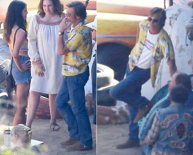 Brad Pitt On Set 'Once Upon A Time in Hollywood'