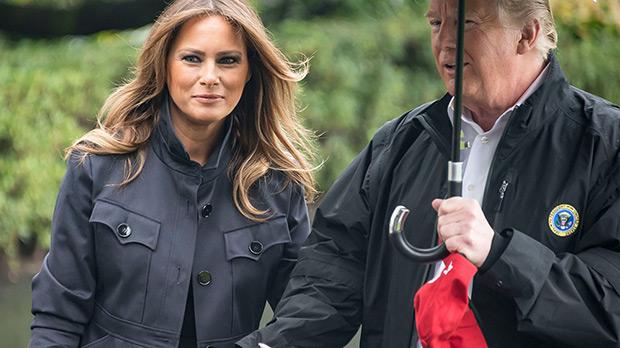 Melania & Donald Trump Holding Hands