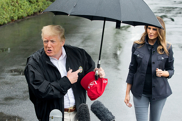 Melania & Donald Trump in Rain