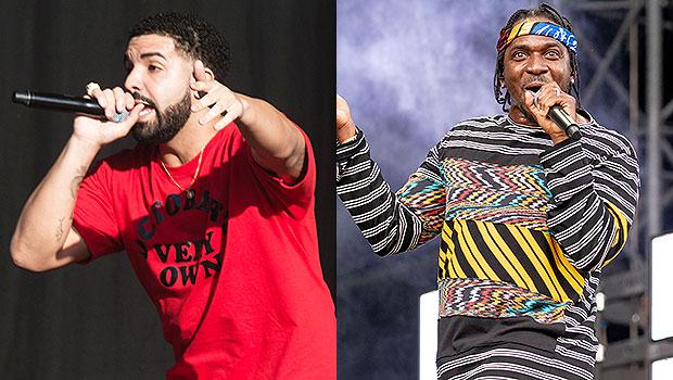 Drake reacts Pusha T baby leak