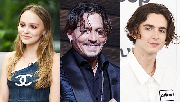 Lily-Rose Depp, Johnny Depp, Timothee Chalamet