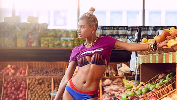 Hailey Baldwin Harper's Bazaar sexy bikini