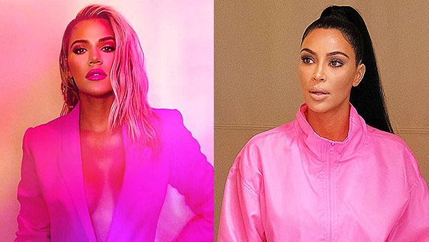 khloe kardashian pink suit