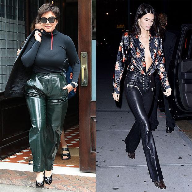 Kris Jenner Kendall Jenner leather