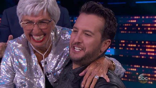 Luke Bryan & his mother LeClaire