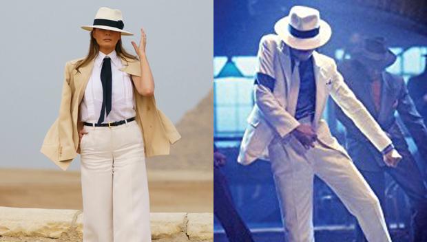 Melania Trump Michael Jackson style Smooth Criminal