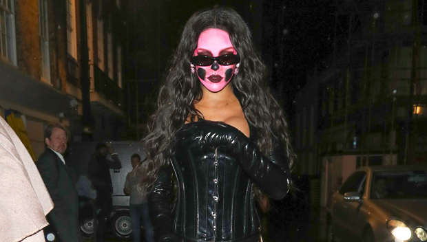 Rihanna Catsuit Skull Face Halloween Costume