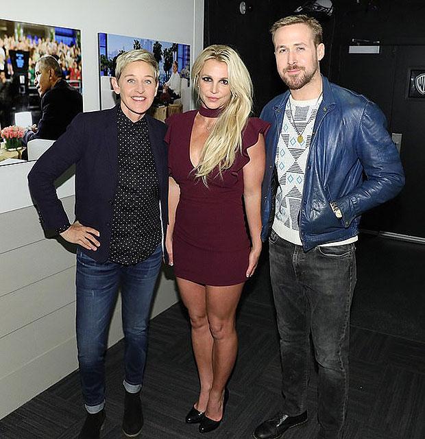 Ellen, Britney Spears & Ryan Gosling
