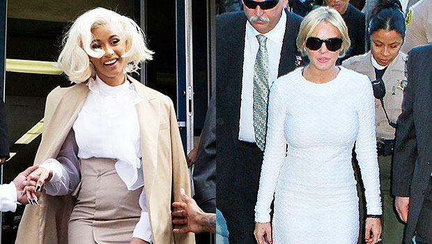 Cardi B & Lindsay Lohan leaving court